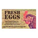 Huevos frescos - pollo rojo de la capa de la galli plantillas de tarjetas de visita
