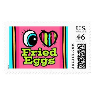 Huevos fritos del ojo del amor brillante del coraz envio
