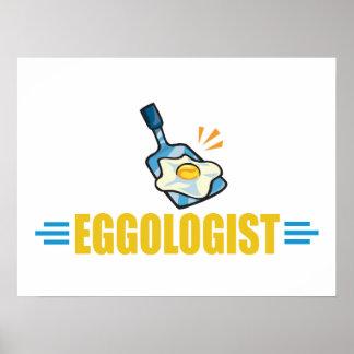 Huevos fritos divertidos póster
