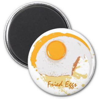 Huevos fritos imán redondo 5 cm