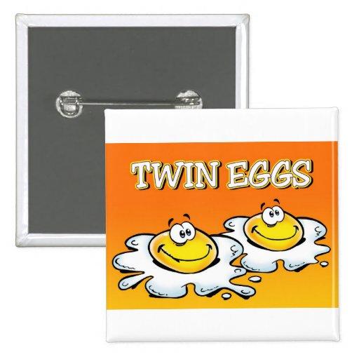 Huevos gemelos pin cuadrada 5 cm