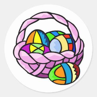 Huevos geométricos en pegatina de la cesta