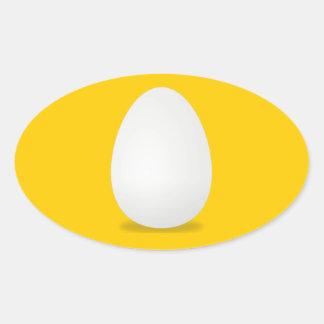 Huevos, huevo fresco de la granja pegatina ovalada