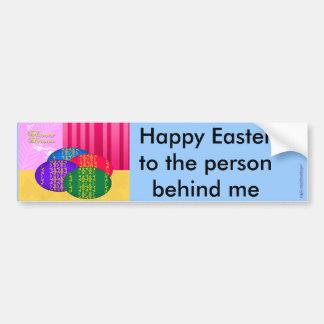Huevos, huevos de Pascua y una Pascua feliz Pegatina Para Coche