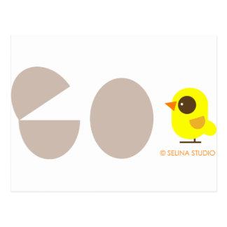 Huevos + Pájaro amarillo Postales