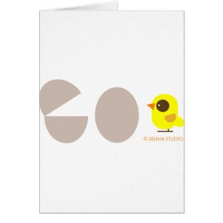 Huevos + Pájaro amarillo Tarjeta De Felicitación