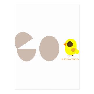Huevos + Pájaro amarillo Tarjetas Postales