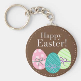 Huevos Pascua feliz de Brown Pascua Llaveros
