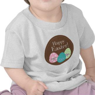 Huevos Pascua feliz de Brown Pascua Camisetas