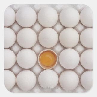 Huevos Pegatina Cuadrada