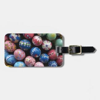 Huevos pintados bonito etiquetas maletas