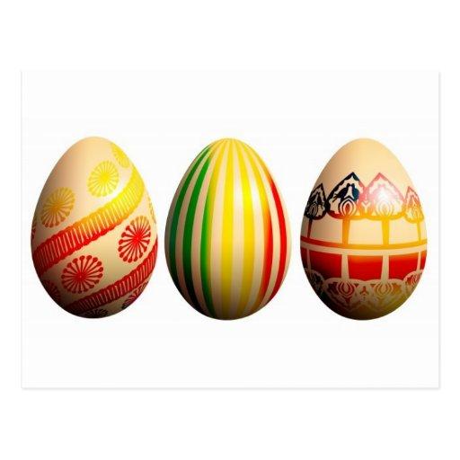 huevos pintados postal