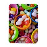 Huevos plásticos llenados de las habas de jalea imanes de vinilo