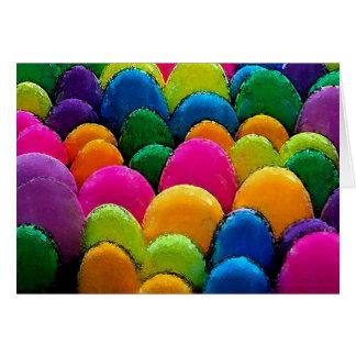 Huevos plásticos tarjeta de felicitación