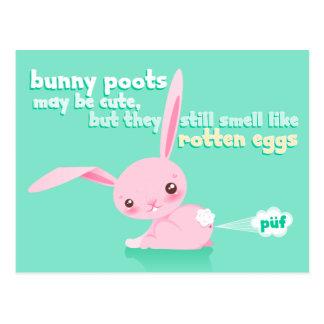 Huevos putrefactos - conejito lindo Poots - postal
