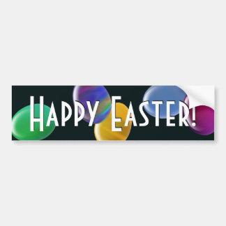 ¡Huevos que caen Pascua feliz! Pegatina De Parachoque