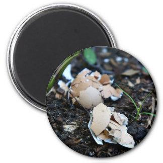 Huevos quebrados imán redondo 5 cm