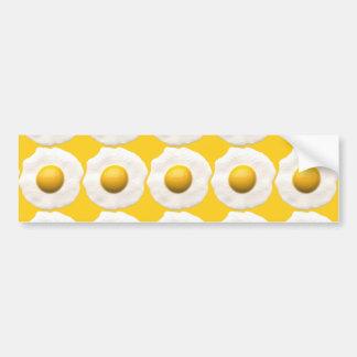 Huevos sobre fácil pegatina para auto