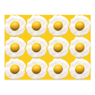 Huevos sobre fácil postal