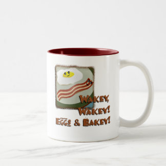 Huevos y Bakey de Wakey Taza De Dos Tonos