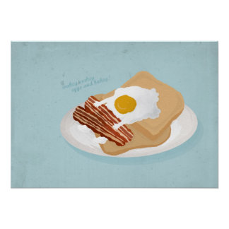 Huevos y bakey del wakey de Wakey Impresiones