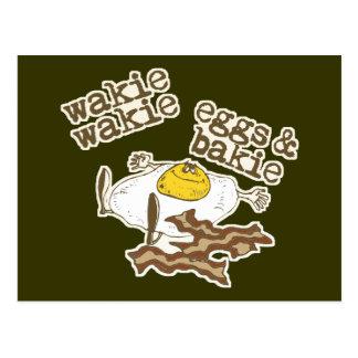 Huevos y Bakie de Wakie Wakie Postal