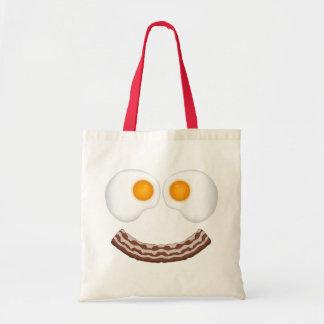 Huevos y bolso de la mueca del tocino bolsa tela barata