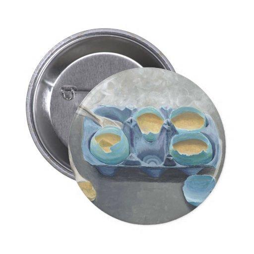 Huevos y natillas azules pin