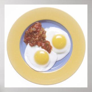 Huevos y salsa posters