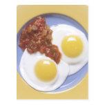 Huevos y salsa tarjetas postales