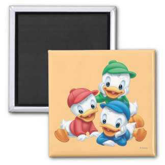 Huey, Dewey, and Louie 2 2 Inch Square Magnet