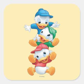 Huey, Dewey, y Louie 1 Pegatina Cuadradas Personalizadas