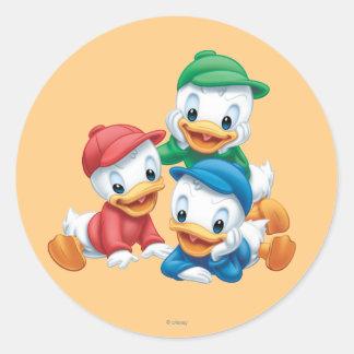 Huey, Dewey, y Louie 2 Pegatina Redonda