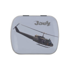 Huey Helicopter candy tin at Zazzle