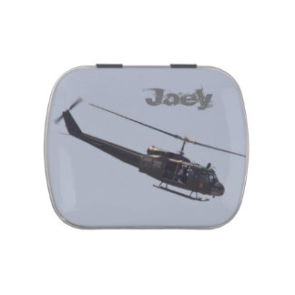 Huey Helicopter candy tin
