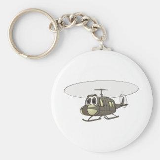 Huey Helicopter Cartoon Keychains