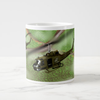 Huey helicopter large coffee mug