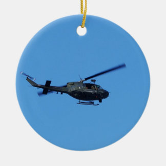 Huey over Malta Double-Sided Ceramic Round Christmas Ornament