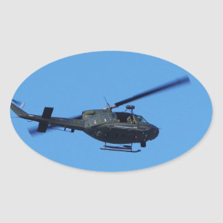 Huey over Malta Oval Sticker