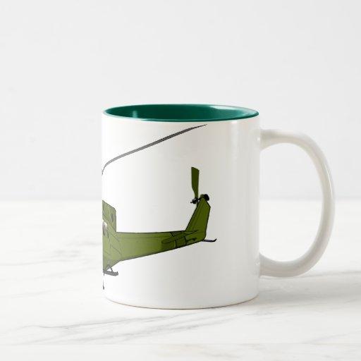 Huey - US Military Machines Two-Tone Coffee Mug