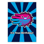 Hand shaped Huff and Puff Puffer Fish Birthday Card
