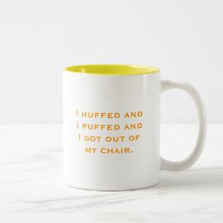 Huff and Puff Two-Tone Coffee Mug