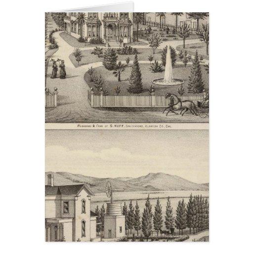 Huff, Owen residences Card