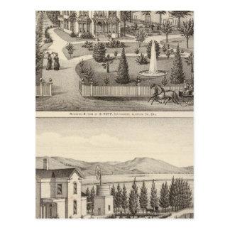Huff, Owen residences Postcard