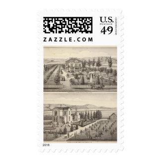Huff, Owen residences Stamp