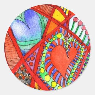 Hufflarts Classic Round Sticker