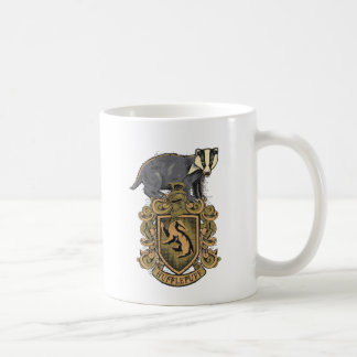 HUFFLEPUFF™ Crest Classic White Coffee Mug