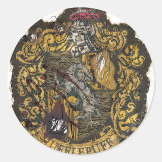 Hufflepuff Crest - Destroyed Classic Round Sticker