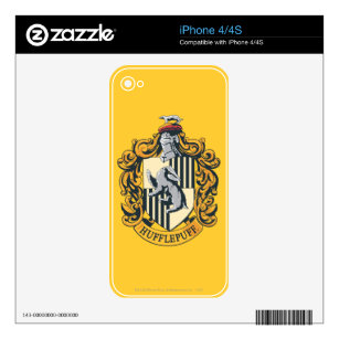 Hufflepuff Crest iPhone 4S Decal