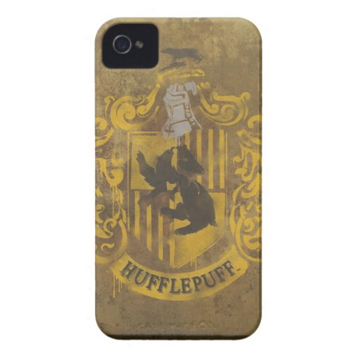 Hufflepuff Crest Painted iPhone 4 Cover